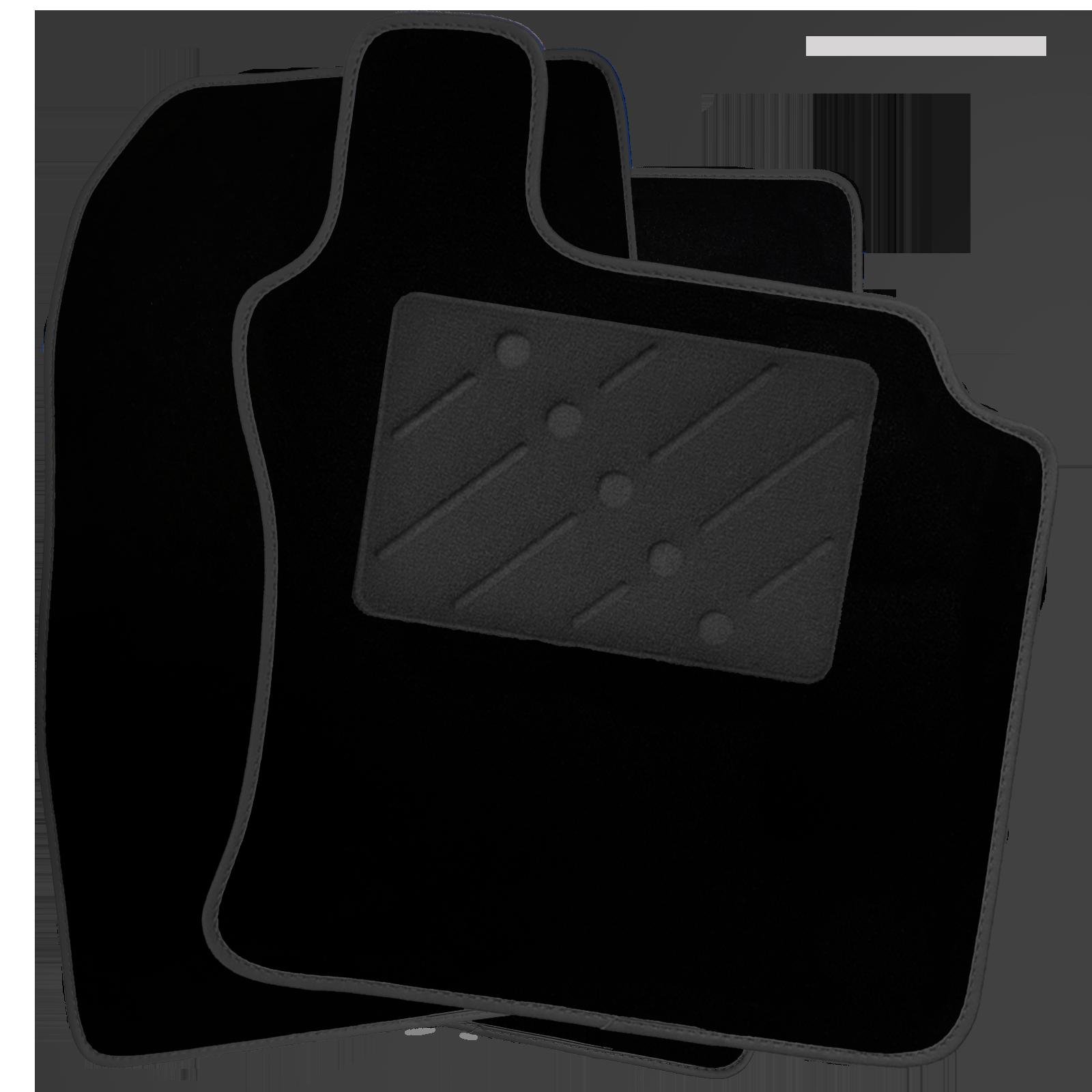 FIAT PUNTO EVO 2010 FULLY TAILORED CAR MATS BLACK CARPET WITH WHITE EDGING