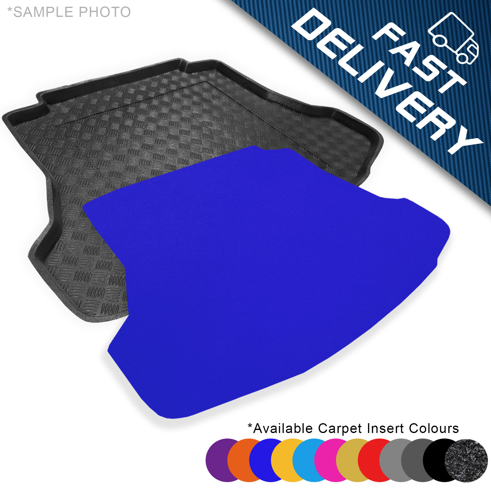 Custom Rubber Boot Mat to fit Ford Fiesta MK7 2008-2017