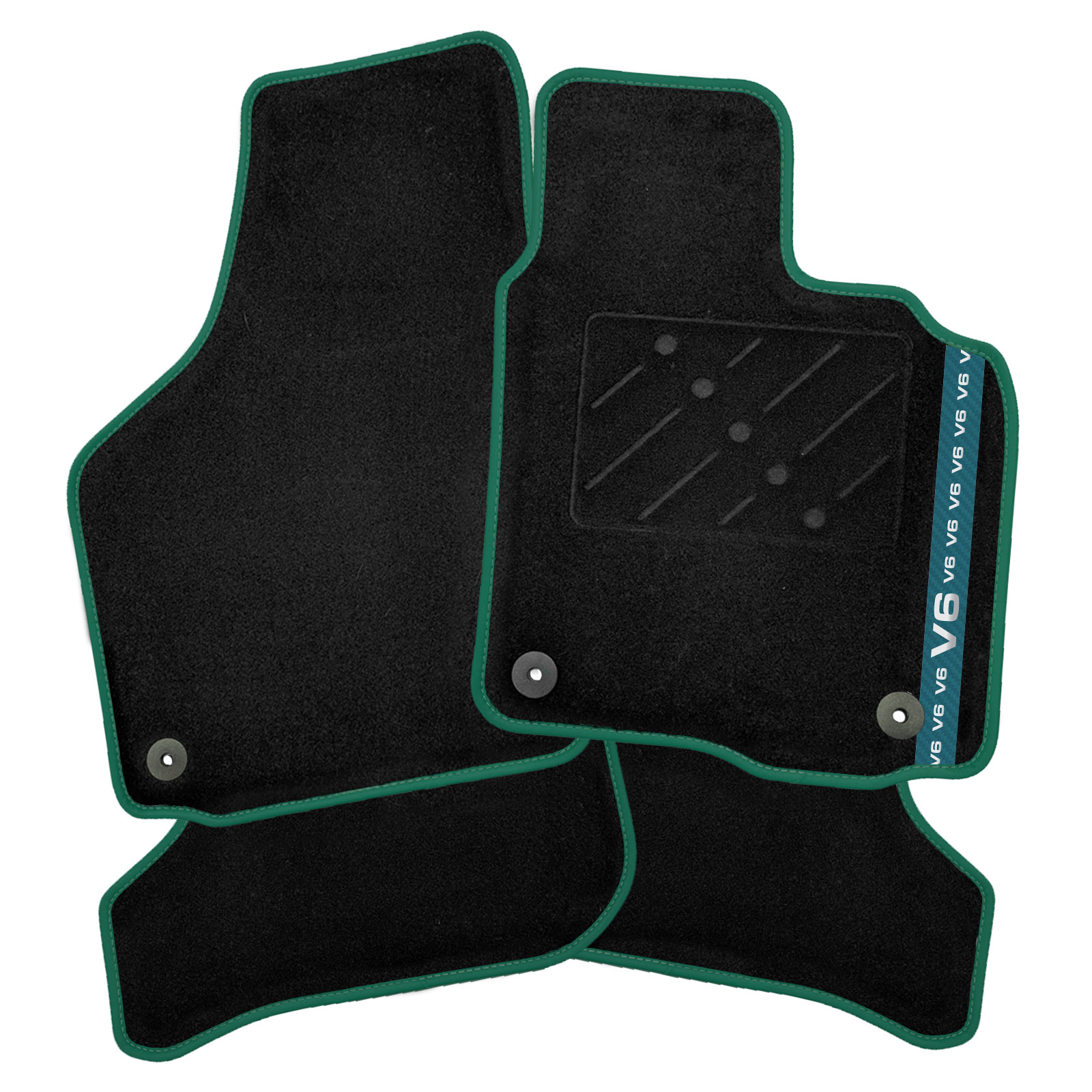 AUDI TT 1999-2006 TAILORED FLOOR CAR MATS CARPET BLACK MAT BLUE TRIM