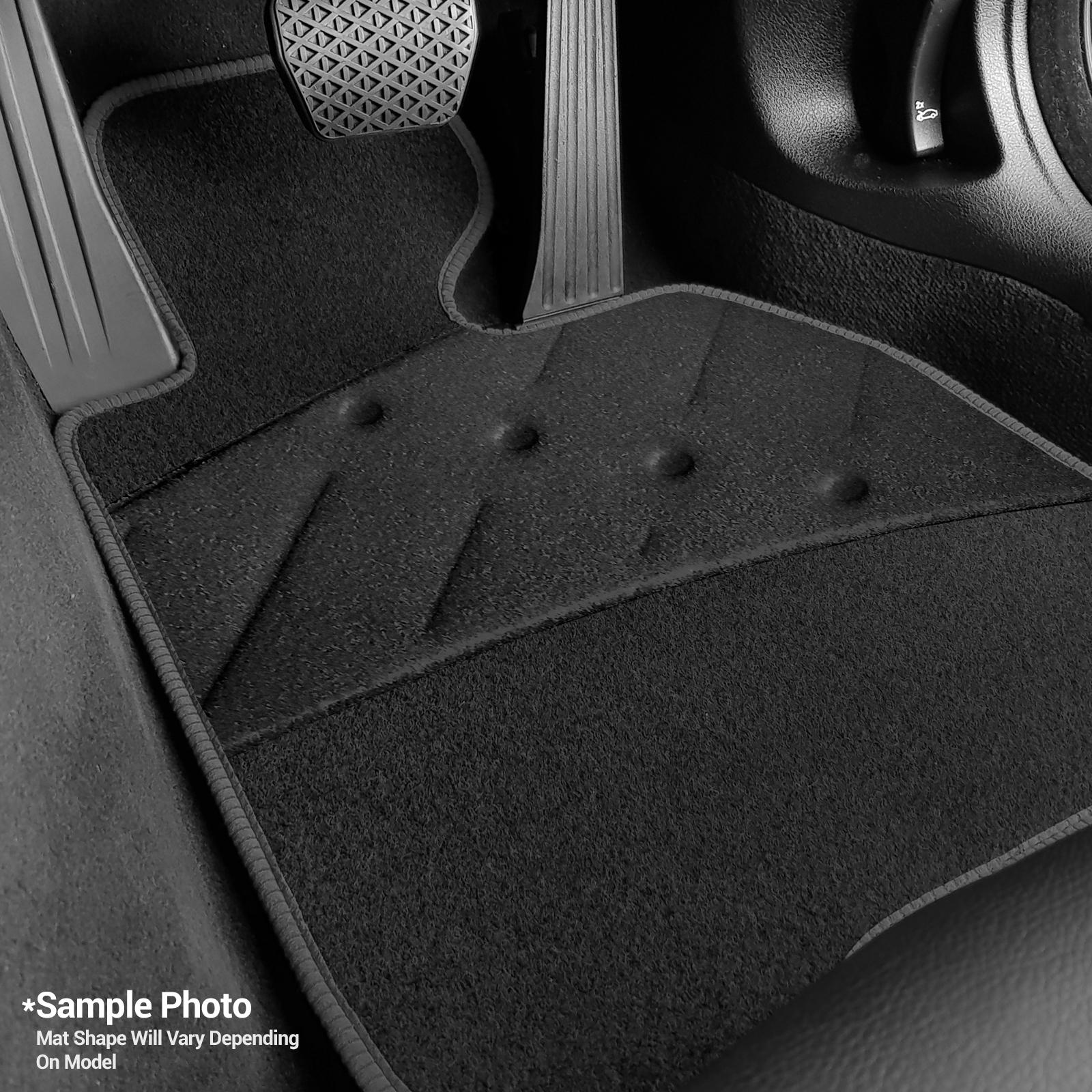 2015+ Toyota Hilux Car Mats Black Tailored /& Heel Pad
