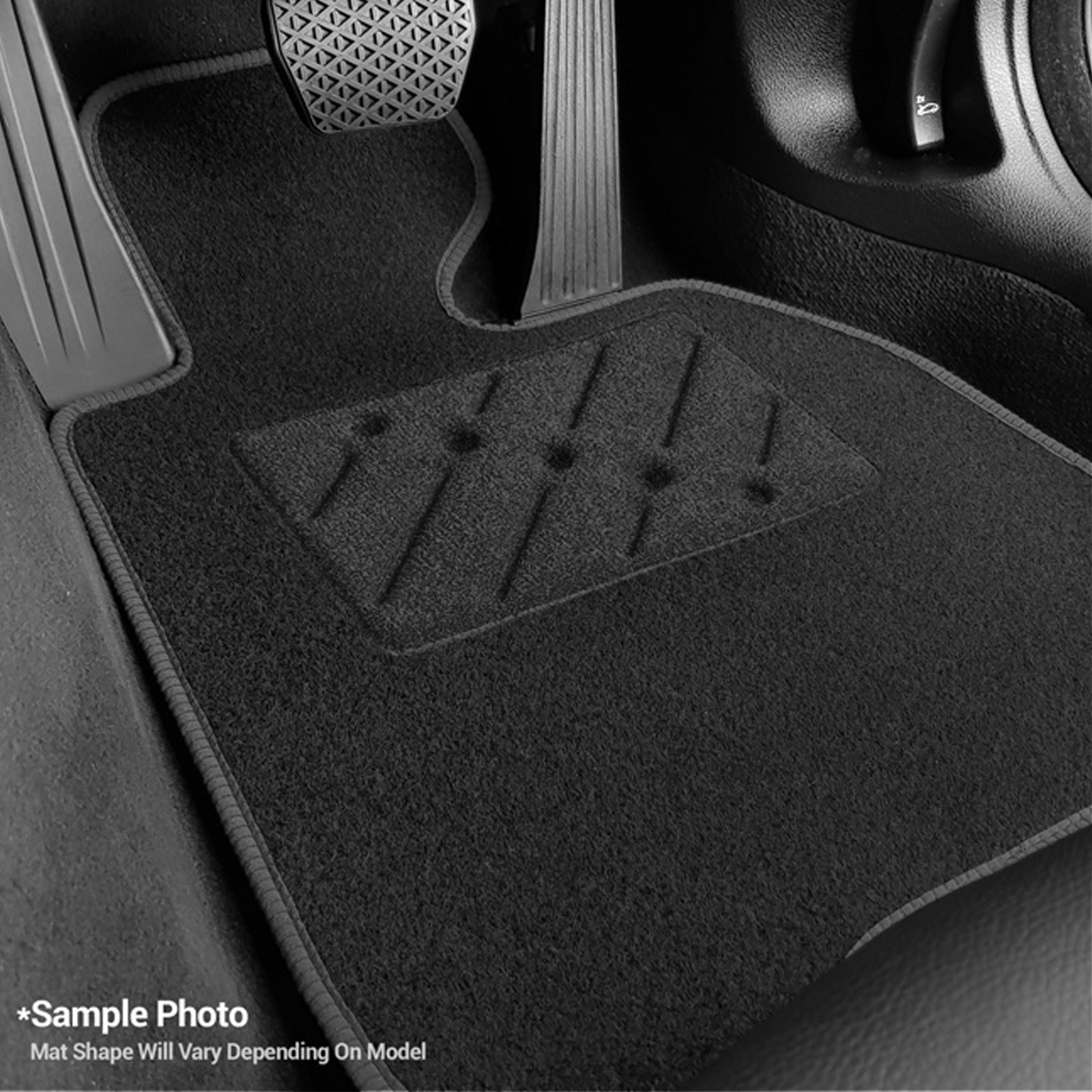3 x clips 11 on Tailored Car Mats GREY ANTHRACITE KIA RIO