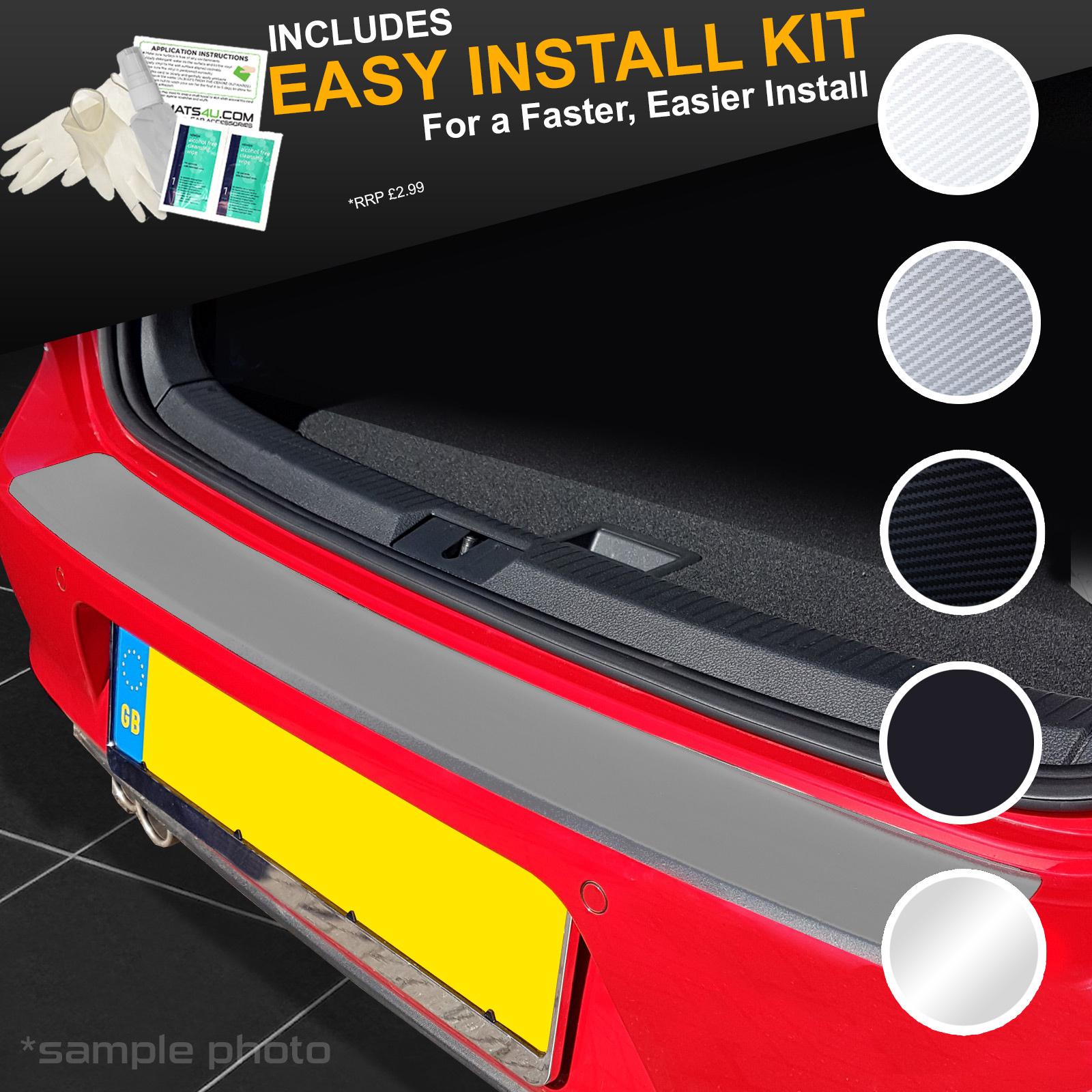 carmats4u Chrome Vinyl Rear Door Sill Protectors 4 Piece