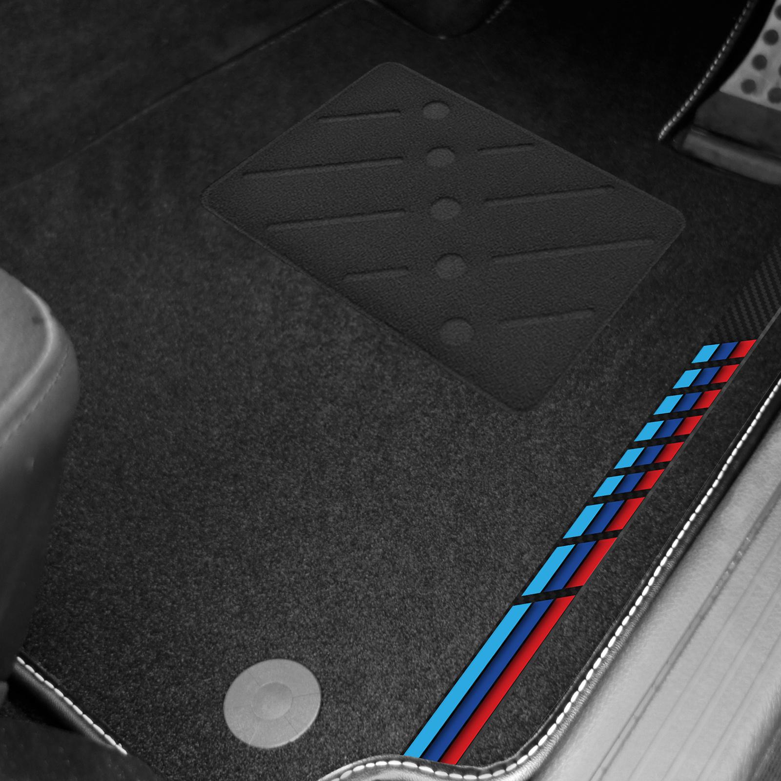 Bmw 5 Series Car Mats M Sport E60 E61 03 09 Auto Black With Logo V2 Ebay